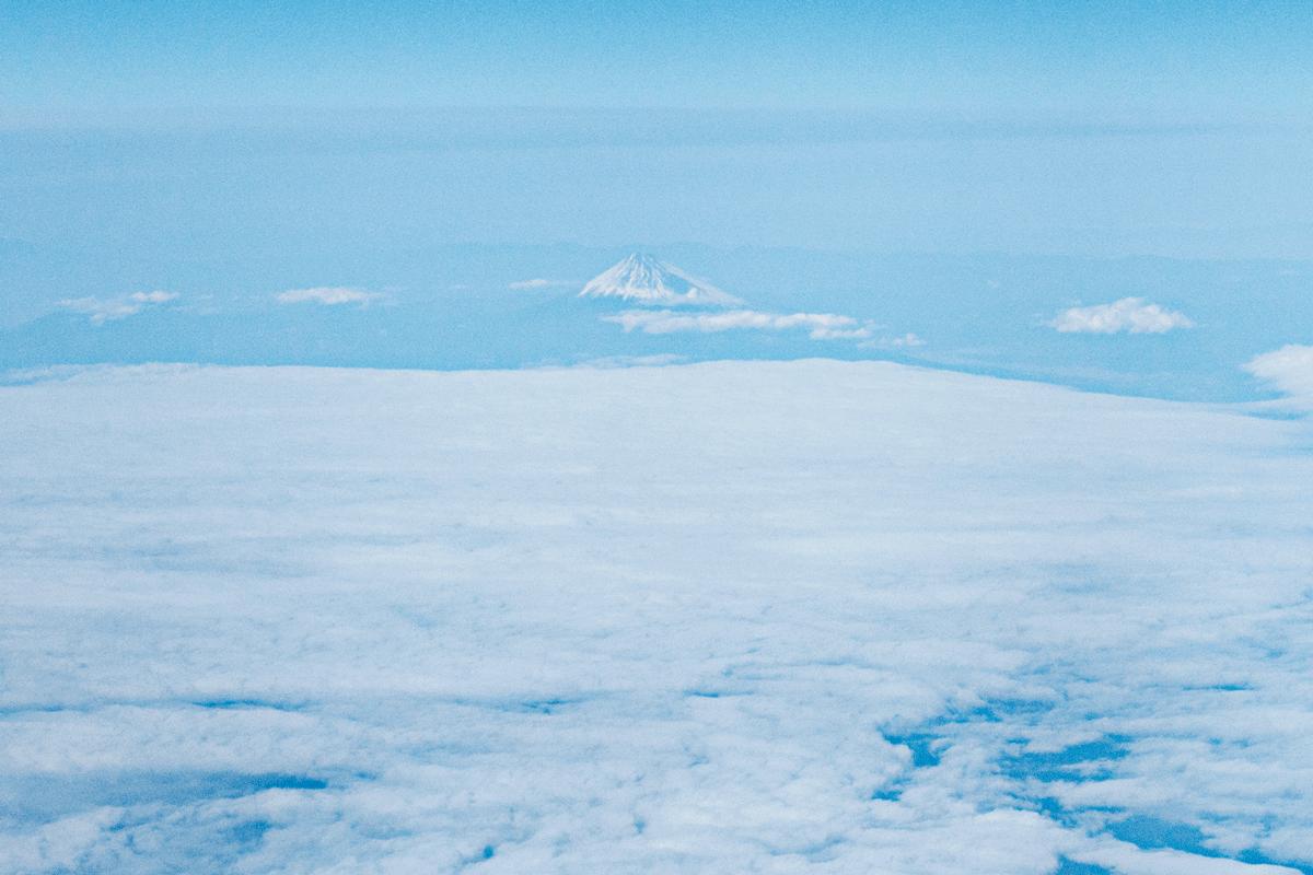 NH824ビジネスクラス 富士山
