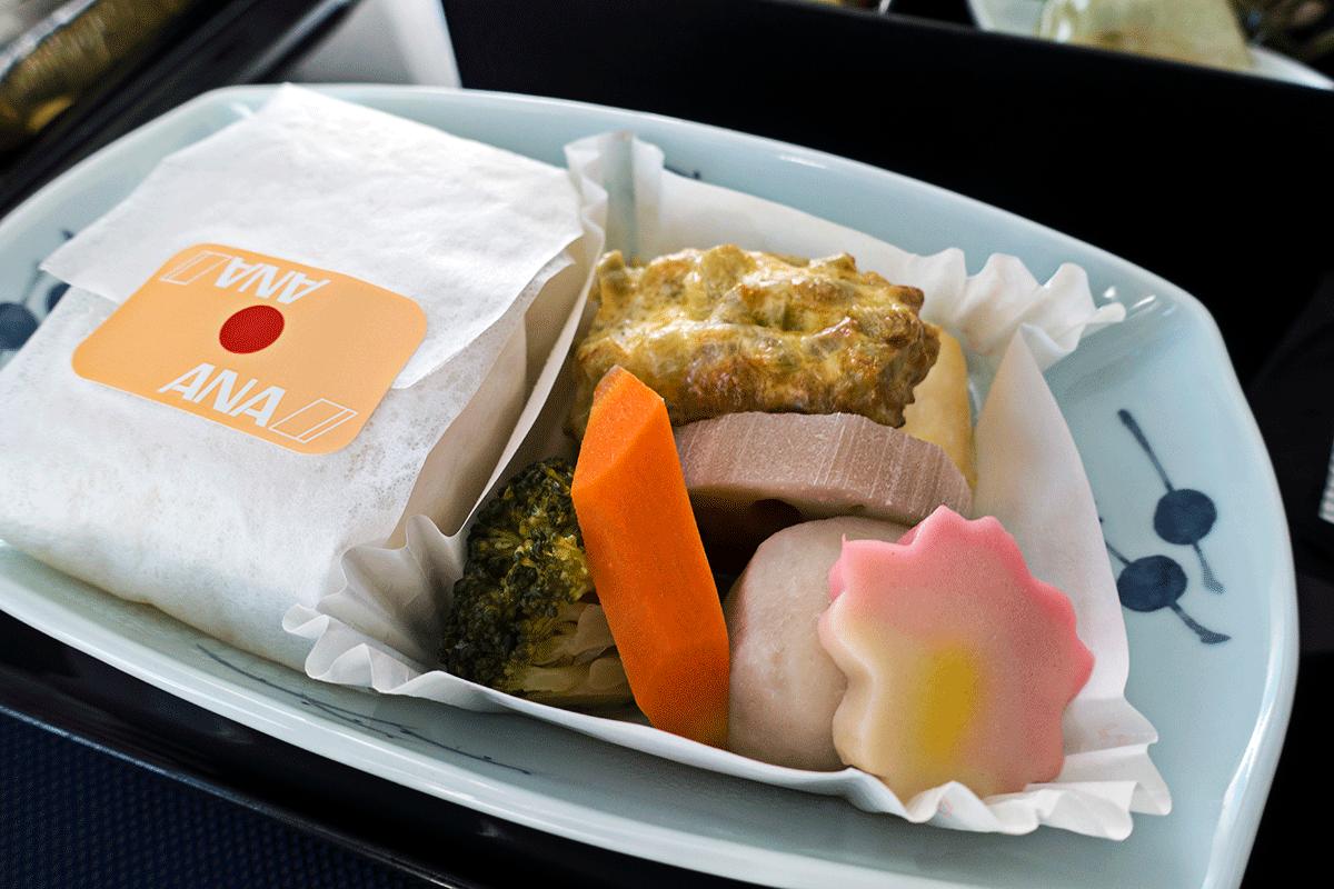 ANA NH851便ビジネスクラス 機内食