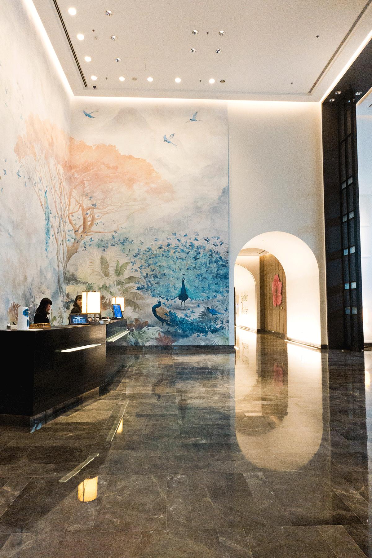 台北マリオットホテルのフロント