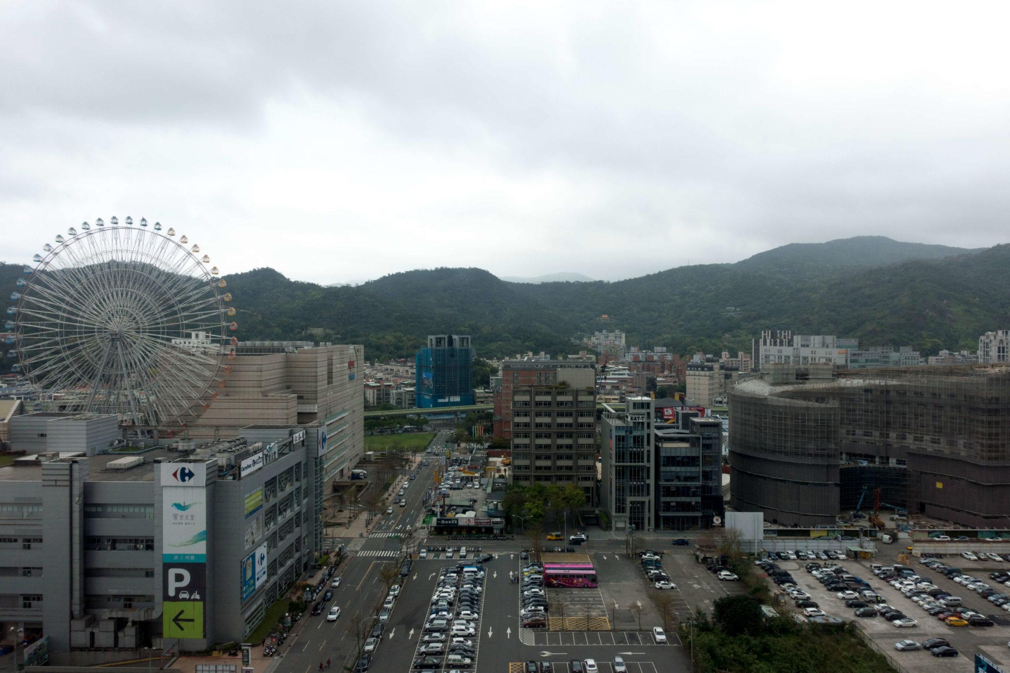 台北マリオットホテル プリビレッジルームからの眺め