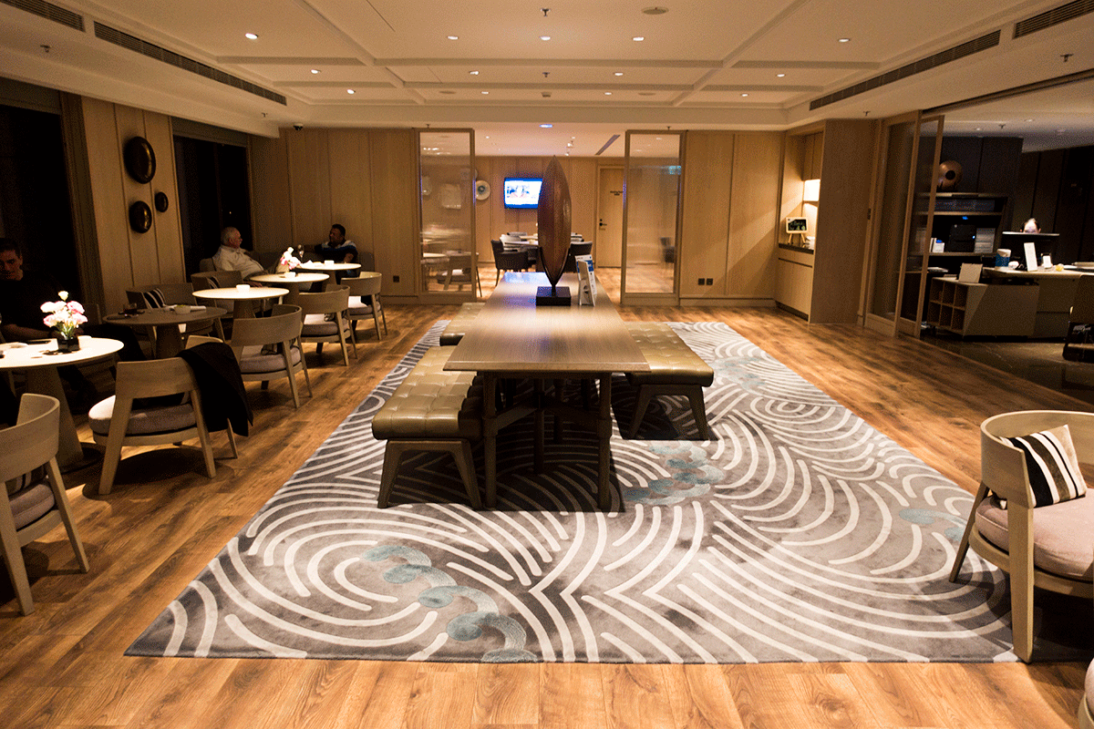 台北マリオットホテルのエグゼクティブラウンジ 正面フロア