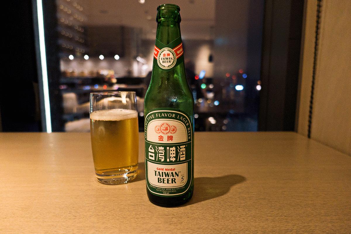 台北マリオットホテルのエグゼクティブラウンジ 台湾ビール