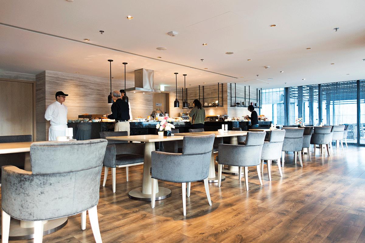 台北マリオットホテルのエグゼクティブラウンジで無料朝食特典