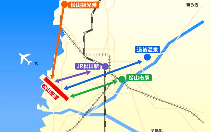 松山空港へのアクセス
