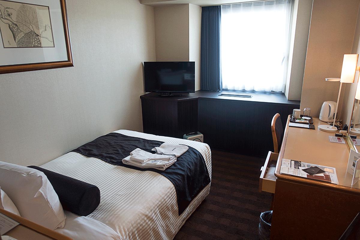 松山全日空ホテルのシングルルーム
