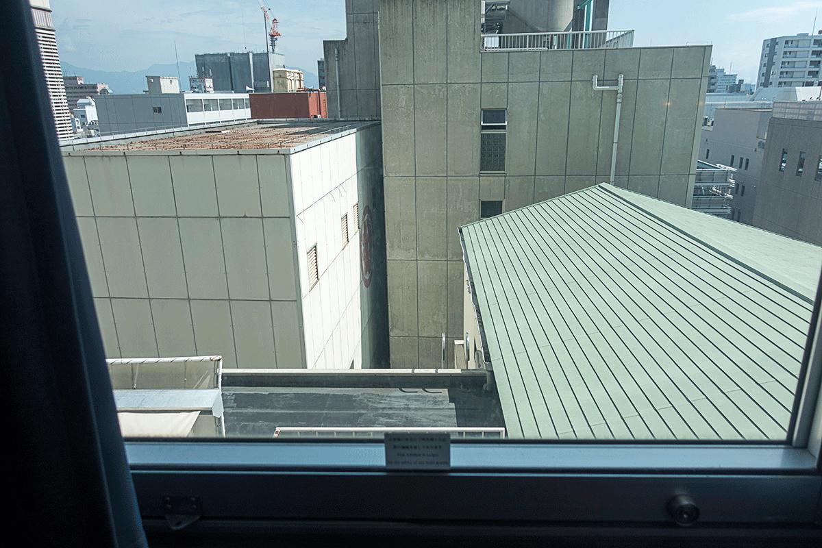 松山全日空ホテルでの部屋からの眺め