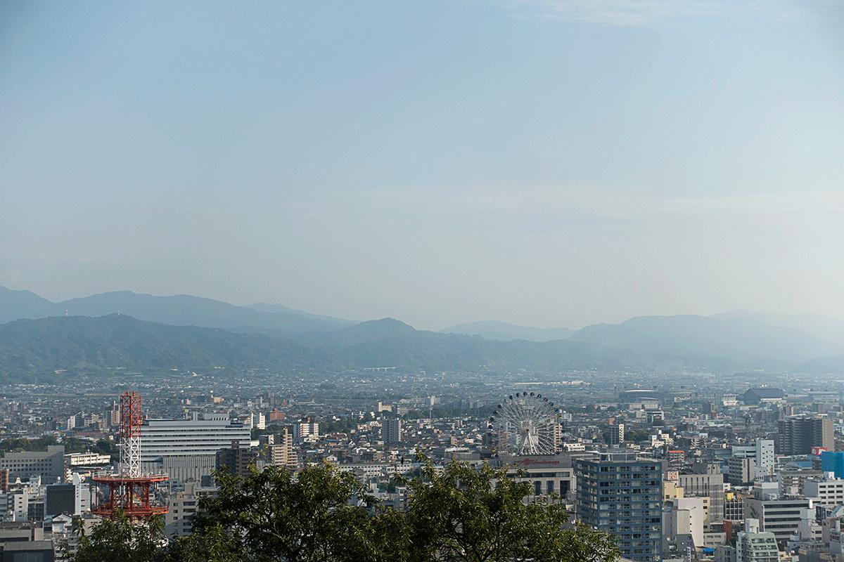 松山城からの眺め