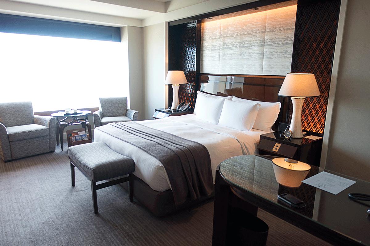 ザ・リッツ・カールトン東京クラブルームのベッド