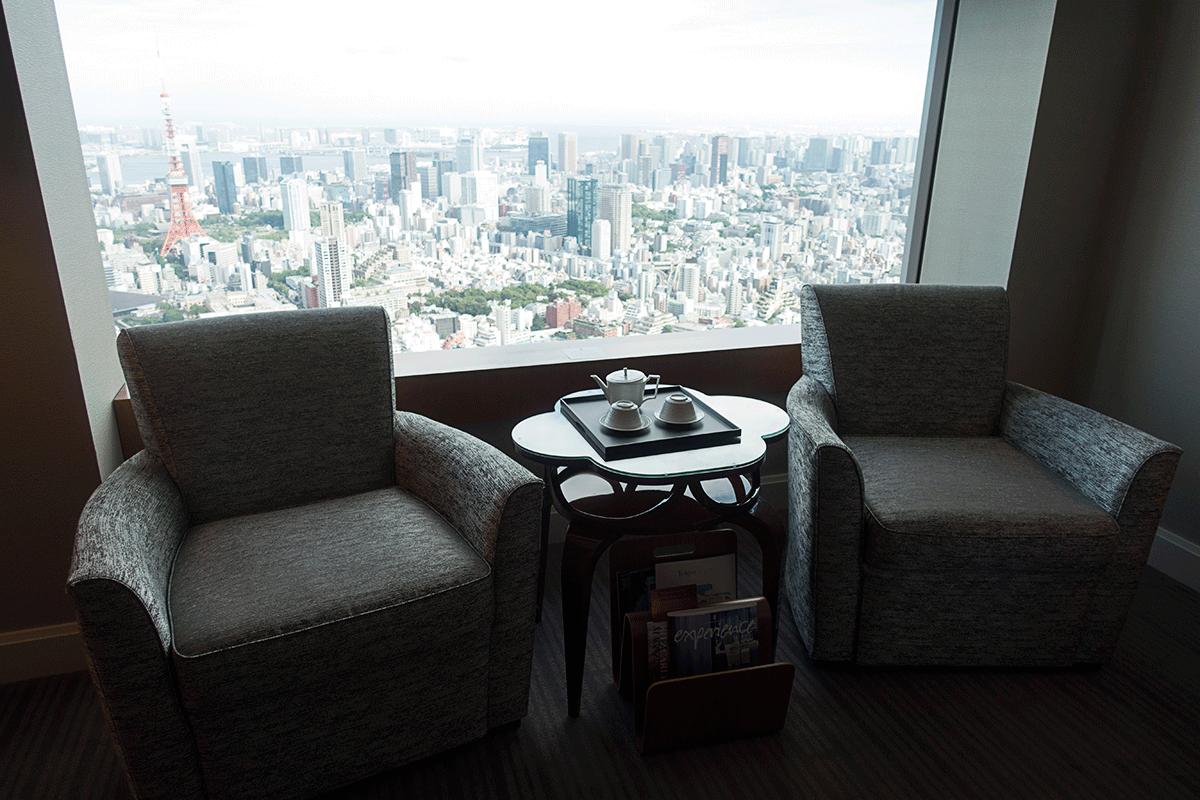 ザ・リッツ・カールトン東京クラブルームのソファ