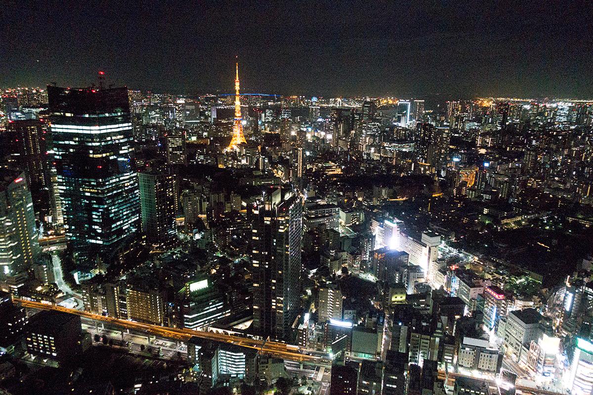 ザ・リッツ・カールトン東京53階からの東京タワー夜景