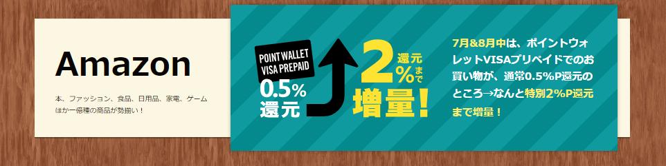 モッピーのAmazon2%キャンペーン