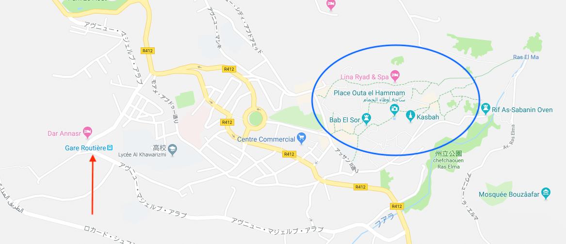 シャウエンの地図