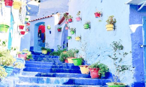 モロッコの青い街シャウエン
