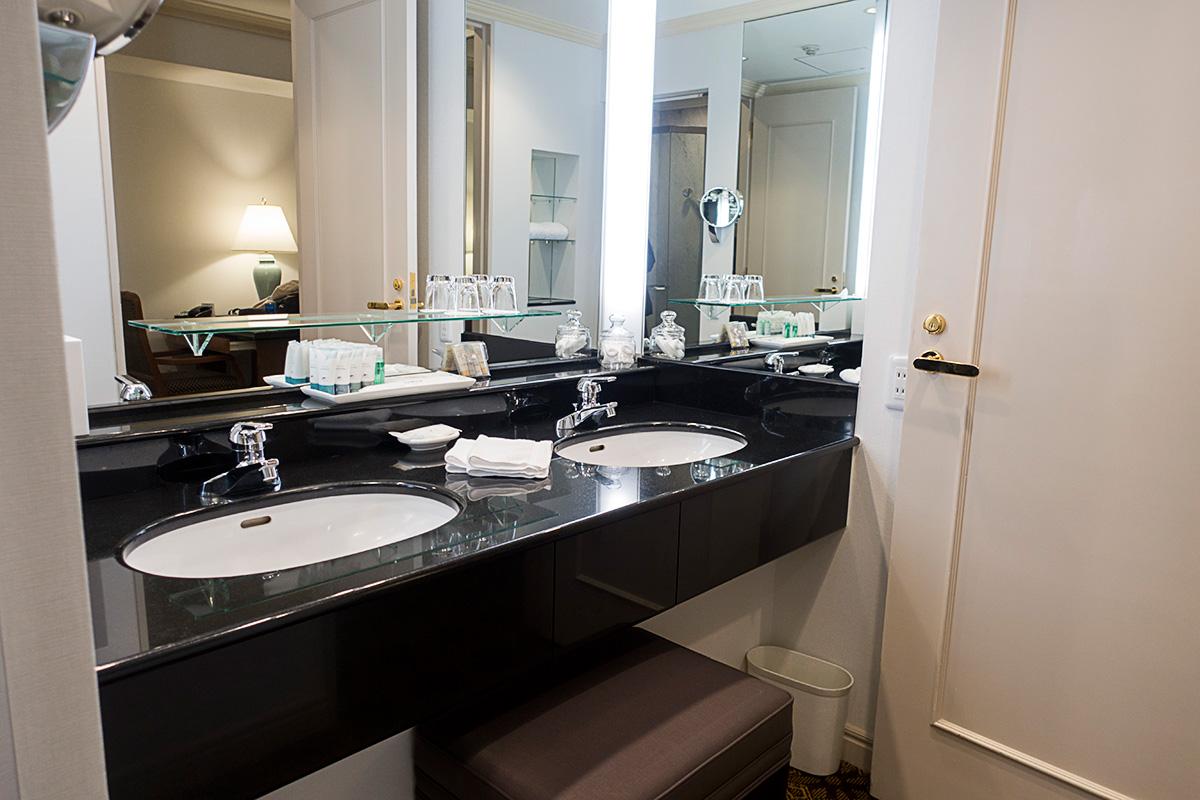 ウェスティンホテル大阪エグゼクティブルームの洗面台