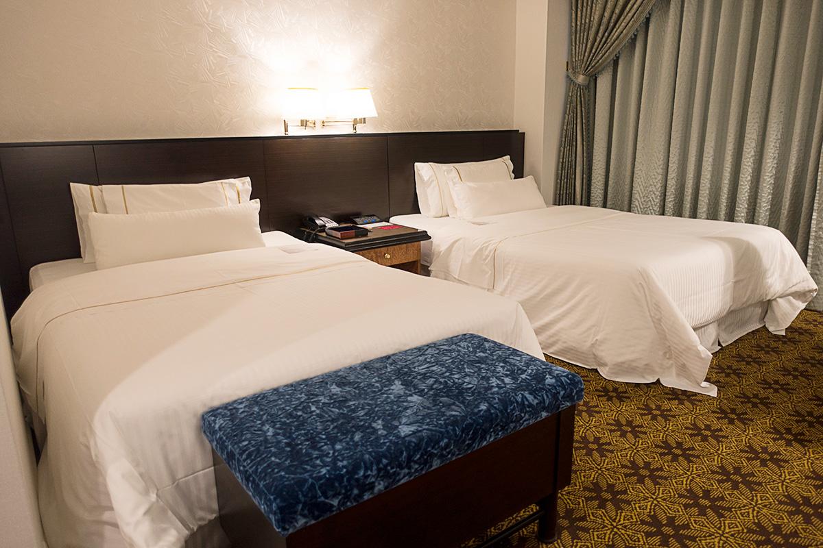 ウェスティンホテル大阪エグゼクティブルームのツインベッド