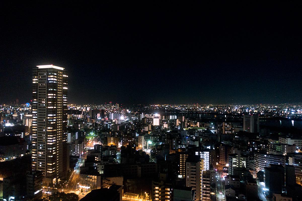 ウェスティンホテル大阪エグゼクティブルームからの夜景