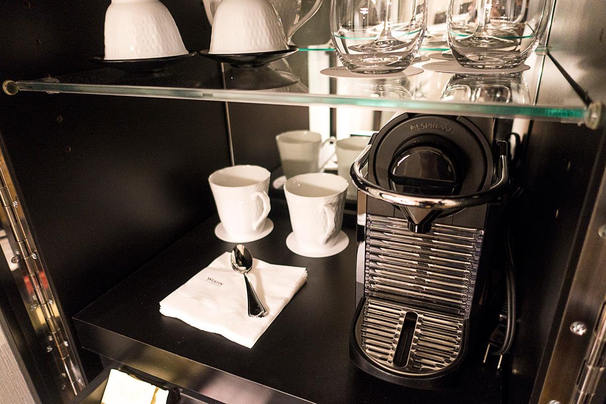 ウェスティンホテル大阪エグゼクティブルームのコーヒーマシン