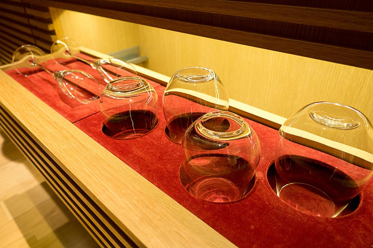 デラックスガーデンルームのグラス類
