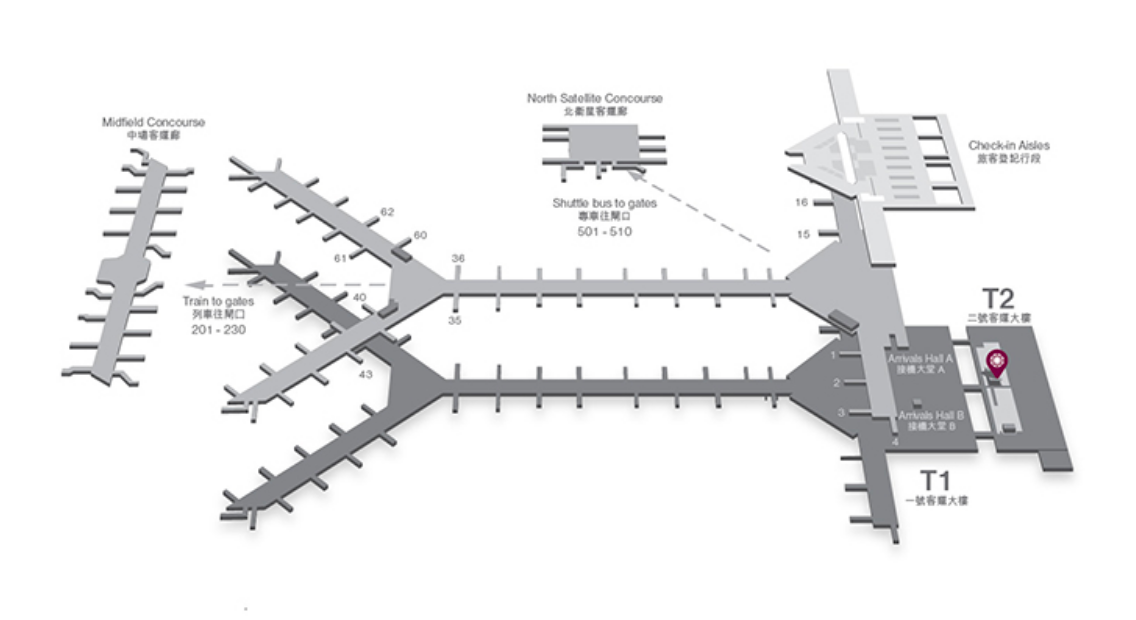 プラザプレミアムラウンジの地図