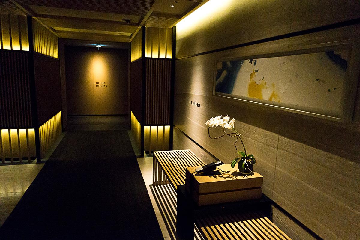 リッツカールトン京都のエレベーターホール