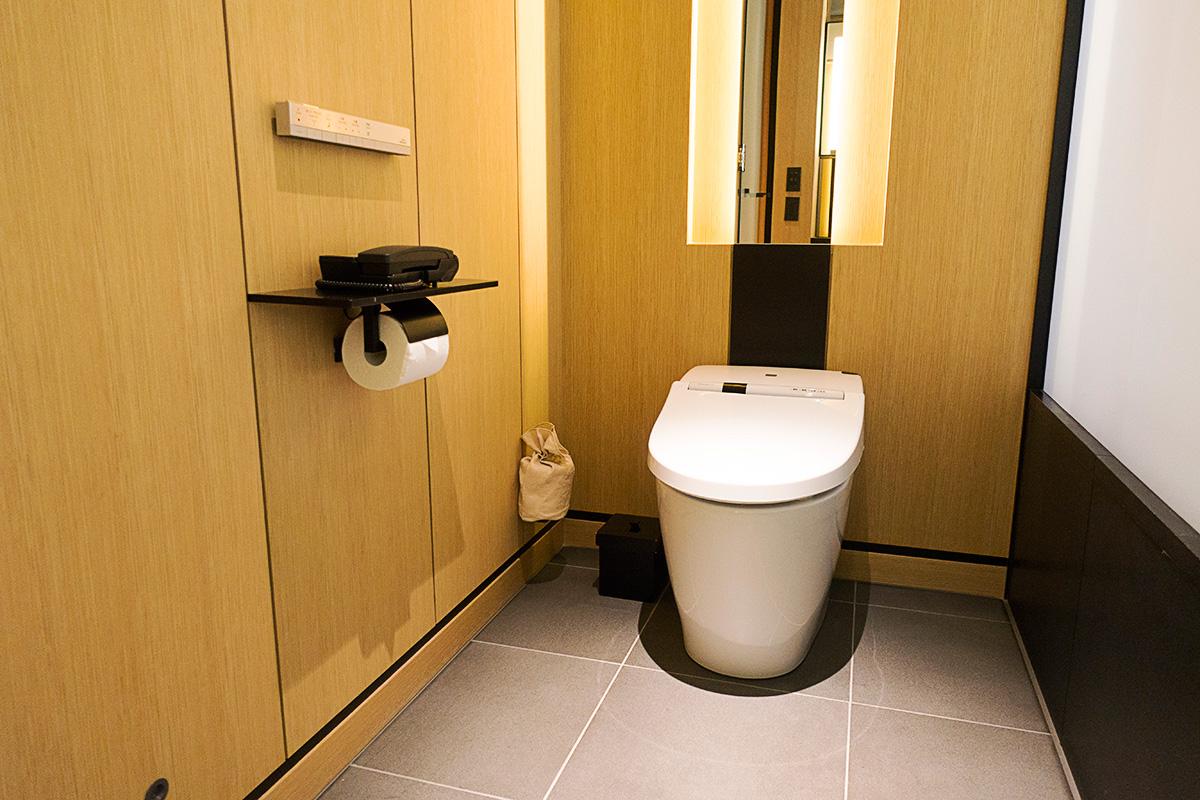 ガーデンデラックスルームのトイレ