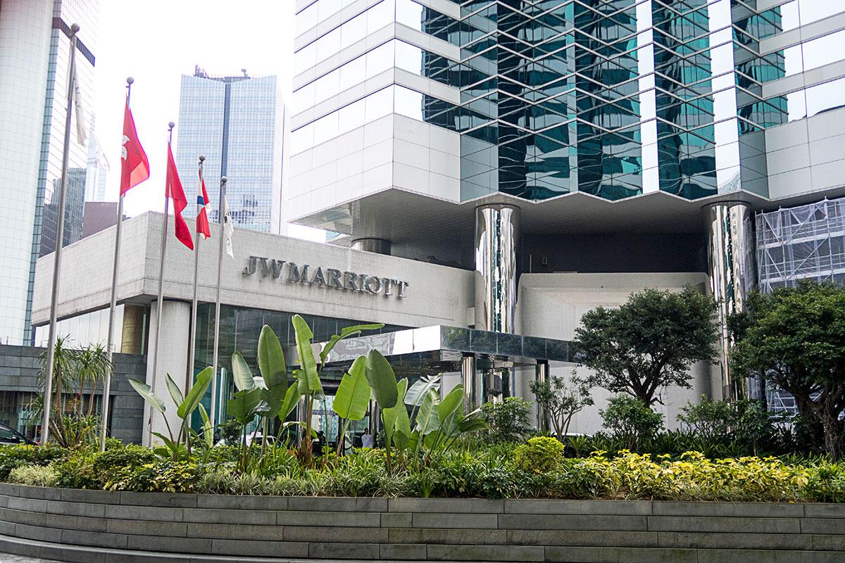 JWマリオット香港の外観