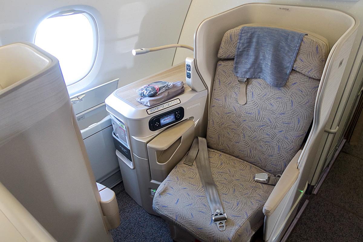 アシアナ航空A380ビジネスクラスのシート