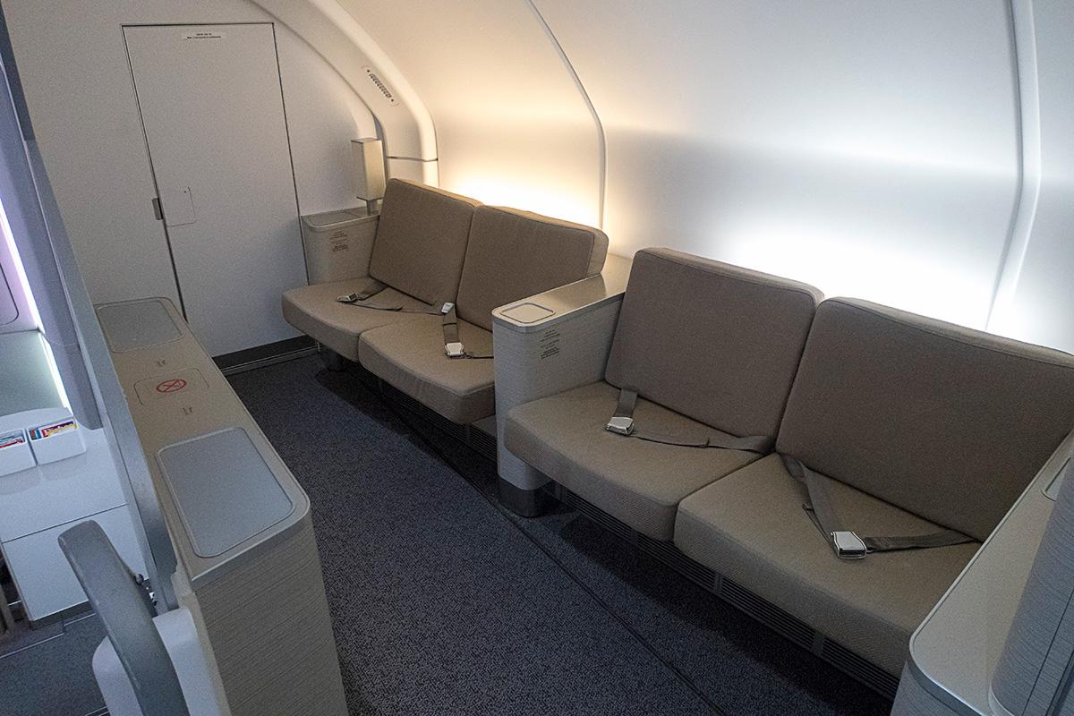 アシアナ航空A380ビジネスクラスのラウンジ