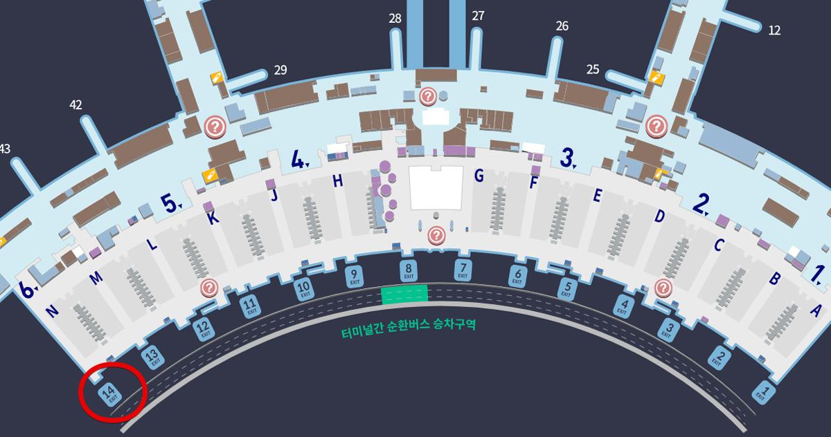 仁川国際空港フロアマップ