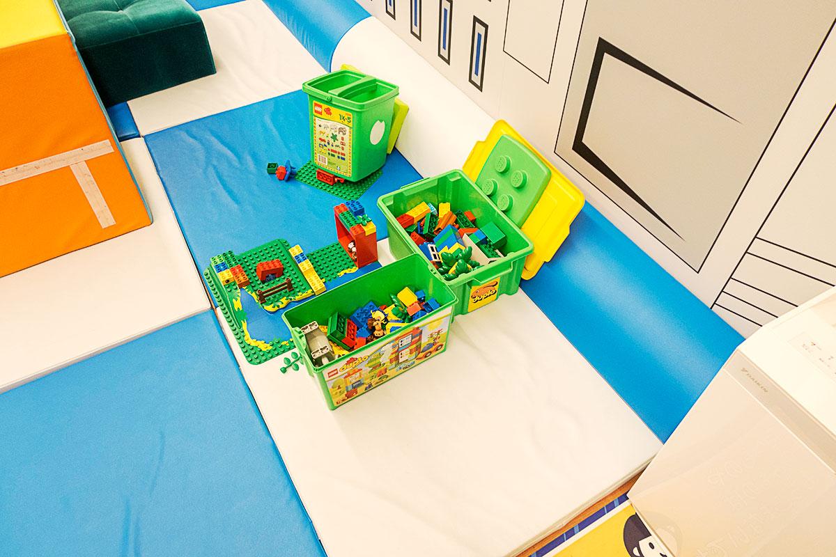 ANAキッズラウンジのレゴ