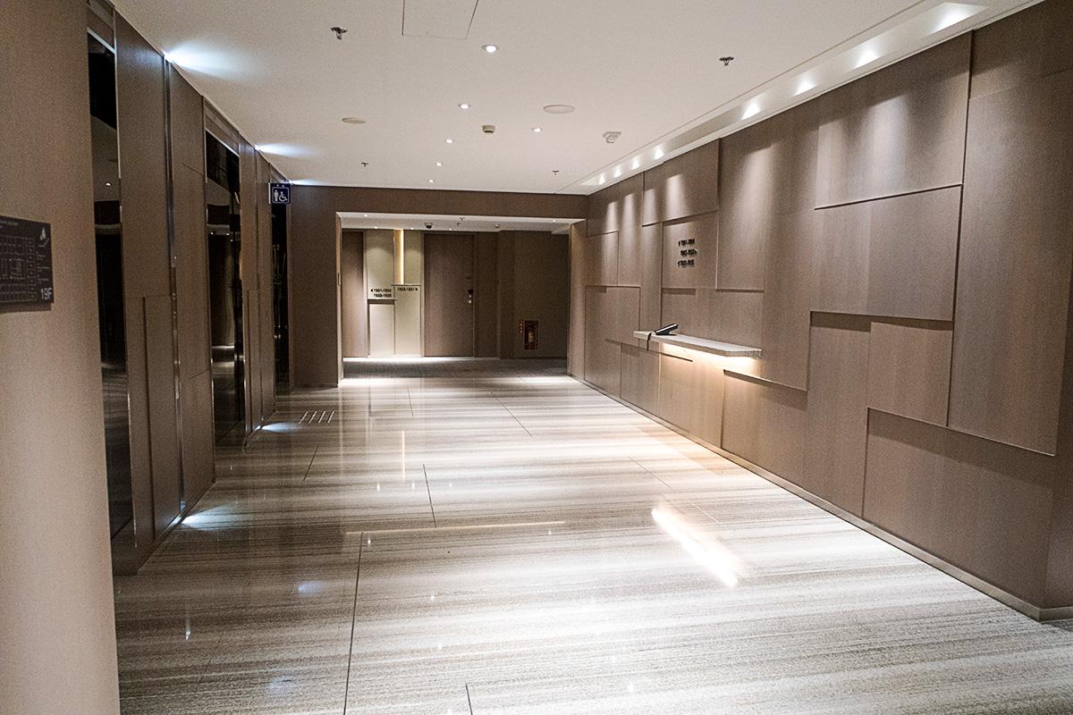 コートヤード台北ダウンタウンのエレベーターホール