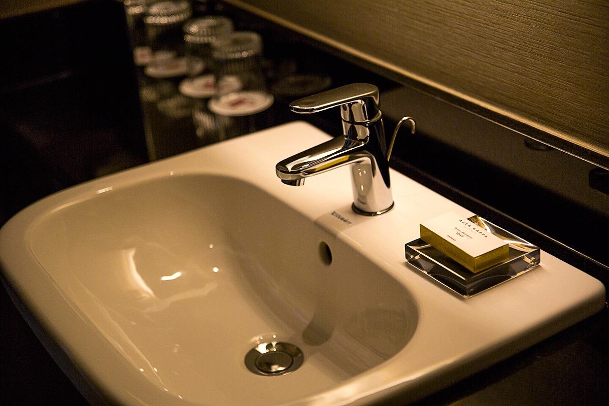 ブダペストマリオットホテルの洗面台