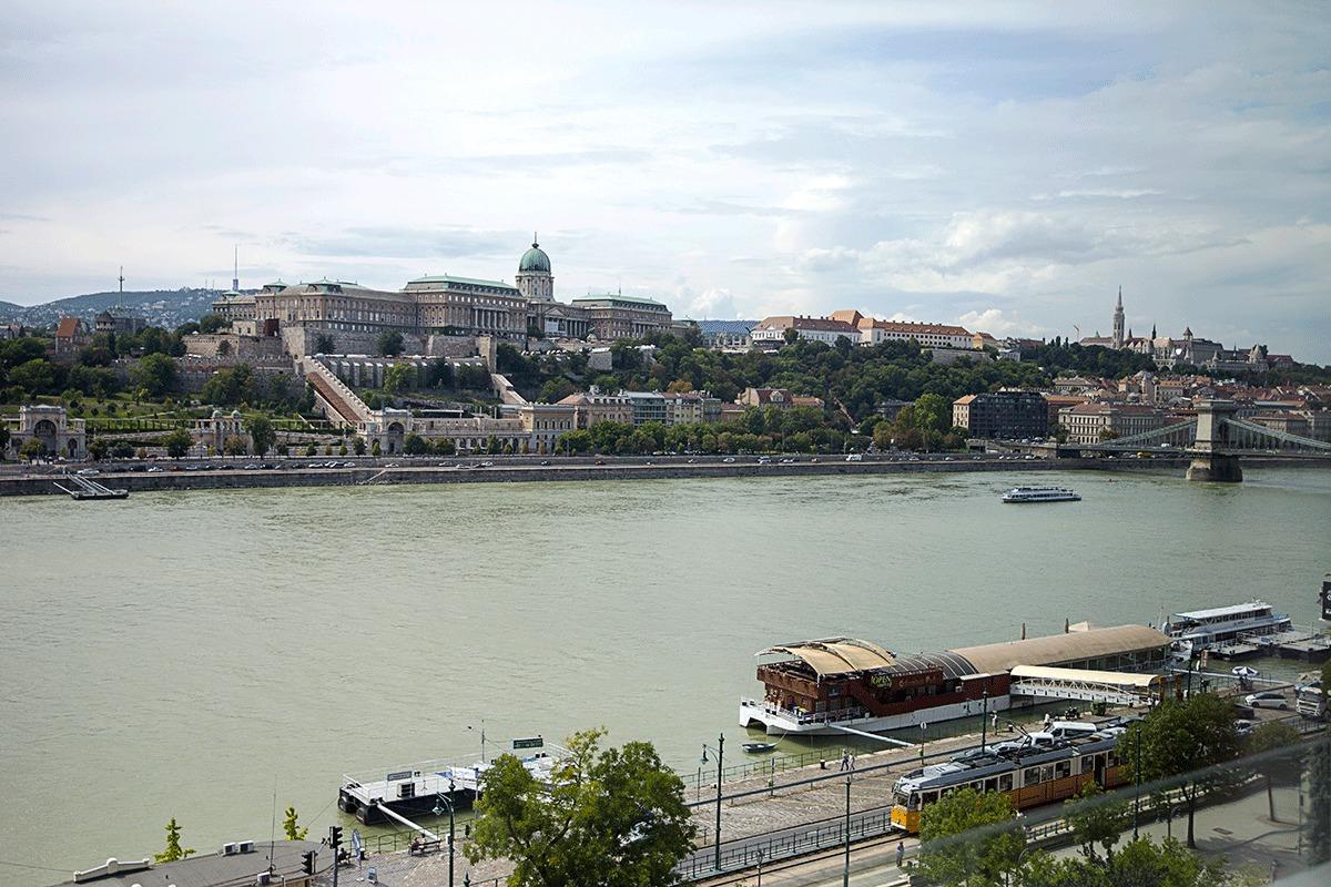 ブダペストマリオットホテルの部屋から見える風景