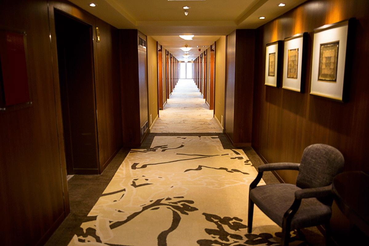 ブダペストマリオットホテルの廊下