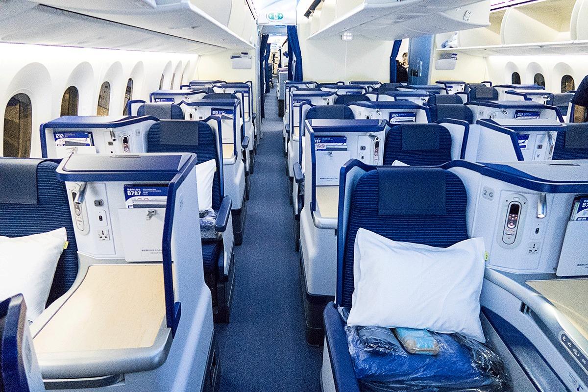 ANA NH205便のビジネスクラス