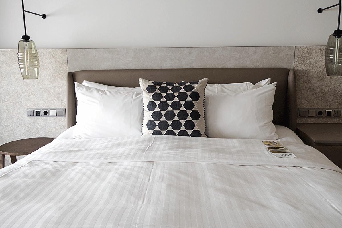 ブダペストマリオットホテルのベッド