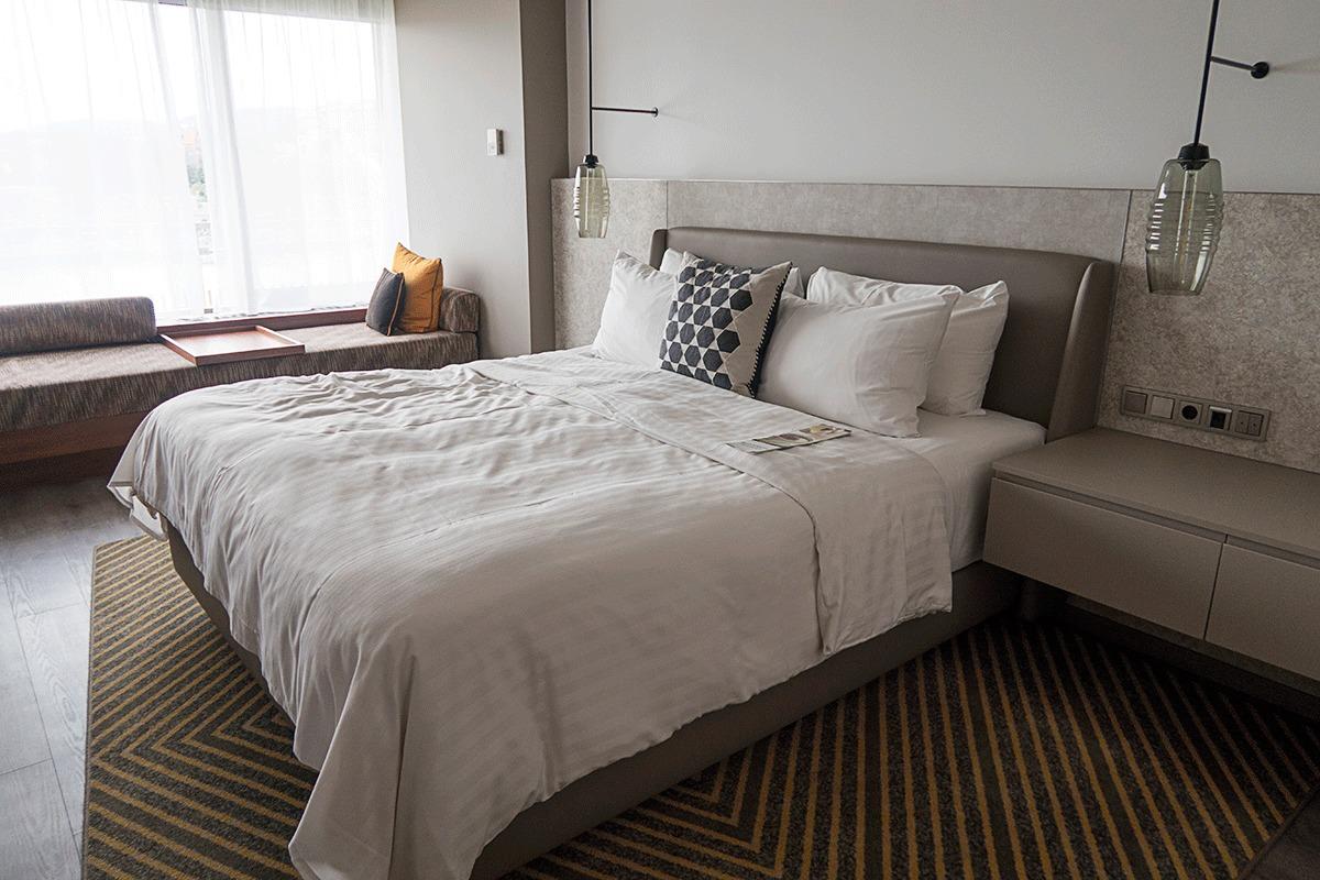 ブダペストマリオットホテルのベッドルーム