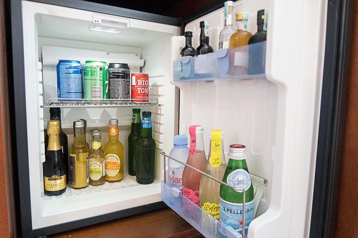 ブダペストマリオットホテルの冷蔵庫