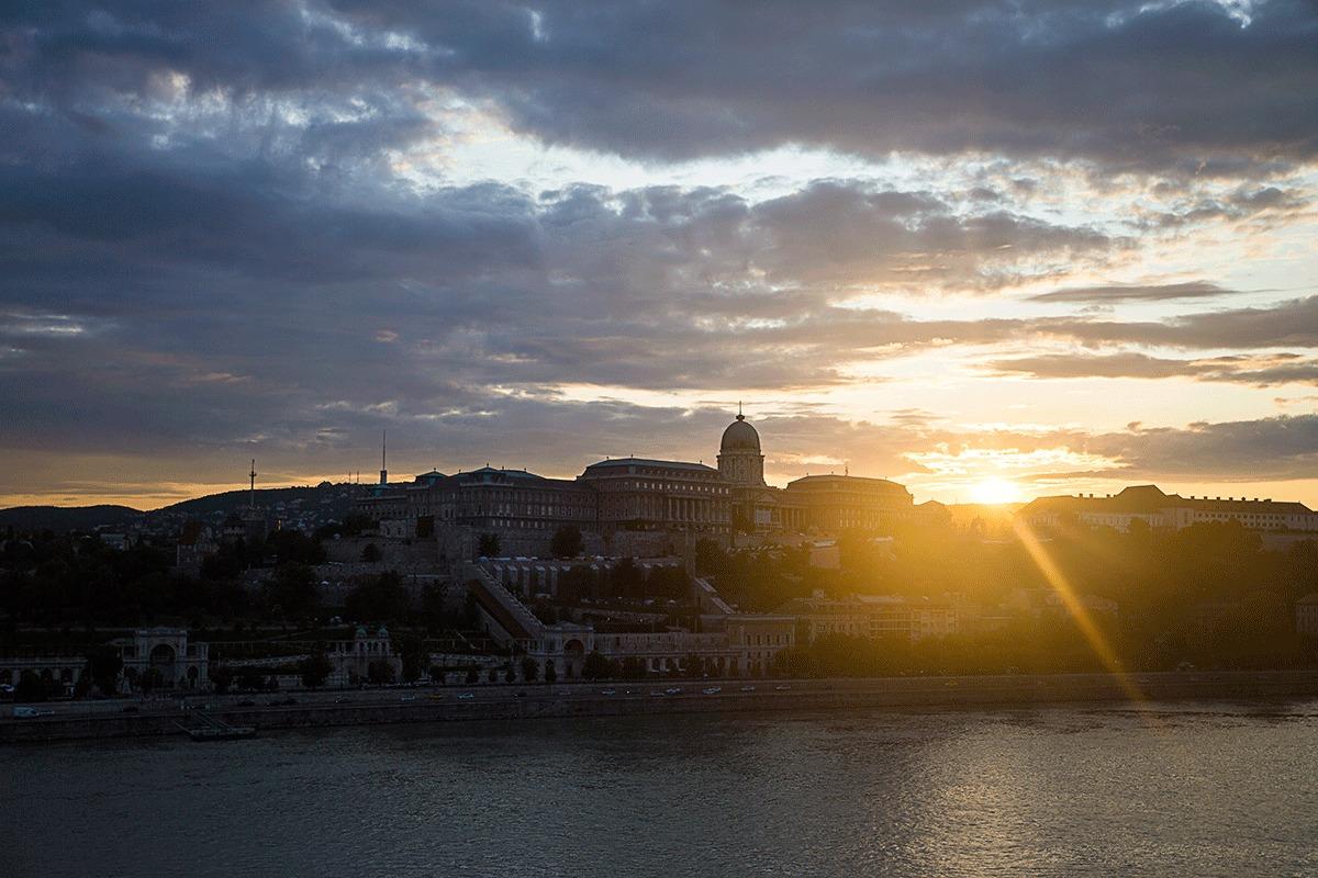 ブダペスト・マリオットホテルからの風景