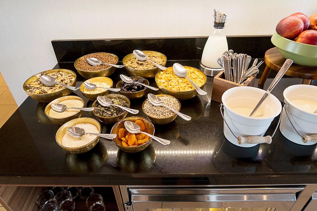 ブダペストマリオットホテルの朝食