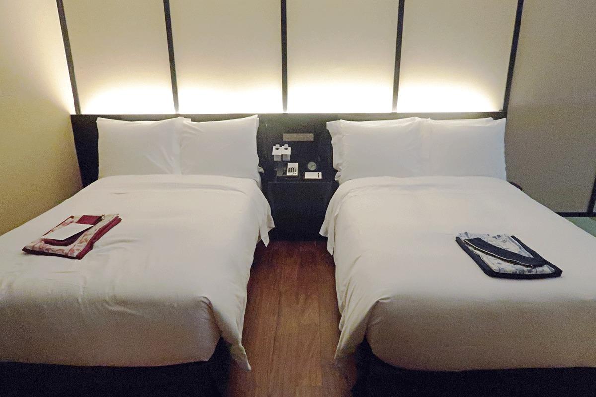 翠嵐ラグジュアリーコレクションホテル京都のベッドルーム