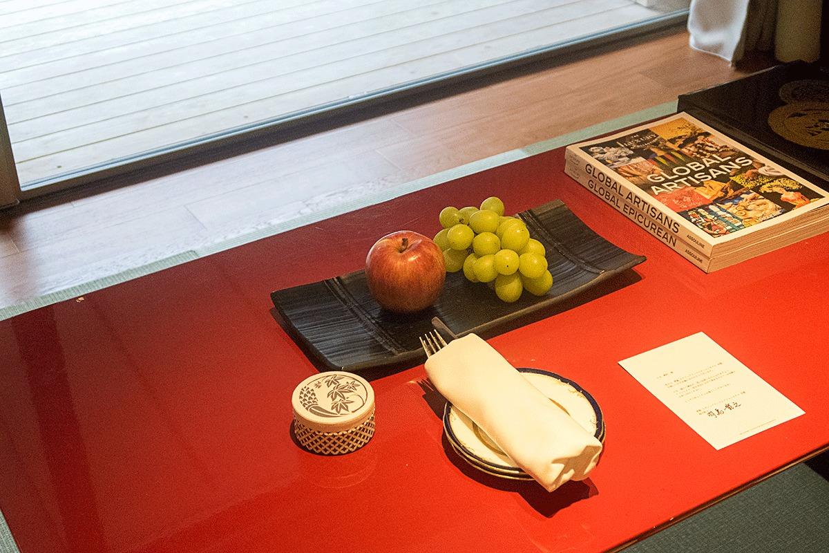 翠嵐ラグジュアリーコレクションホテル京都のウェルカムフルーツ