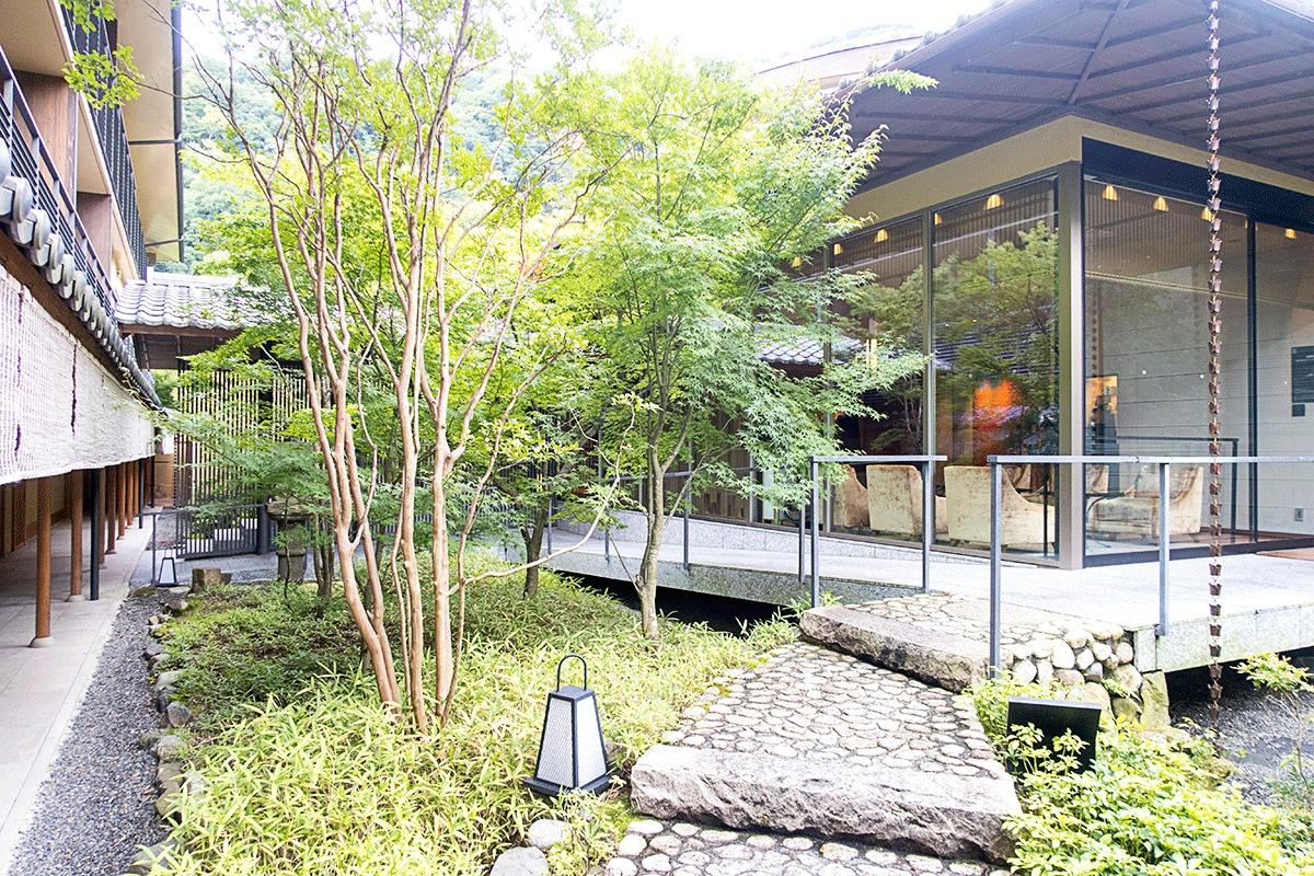 翠嵐ラグジュアリーコレクションホテル京都の中庭