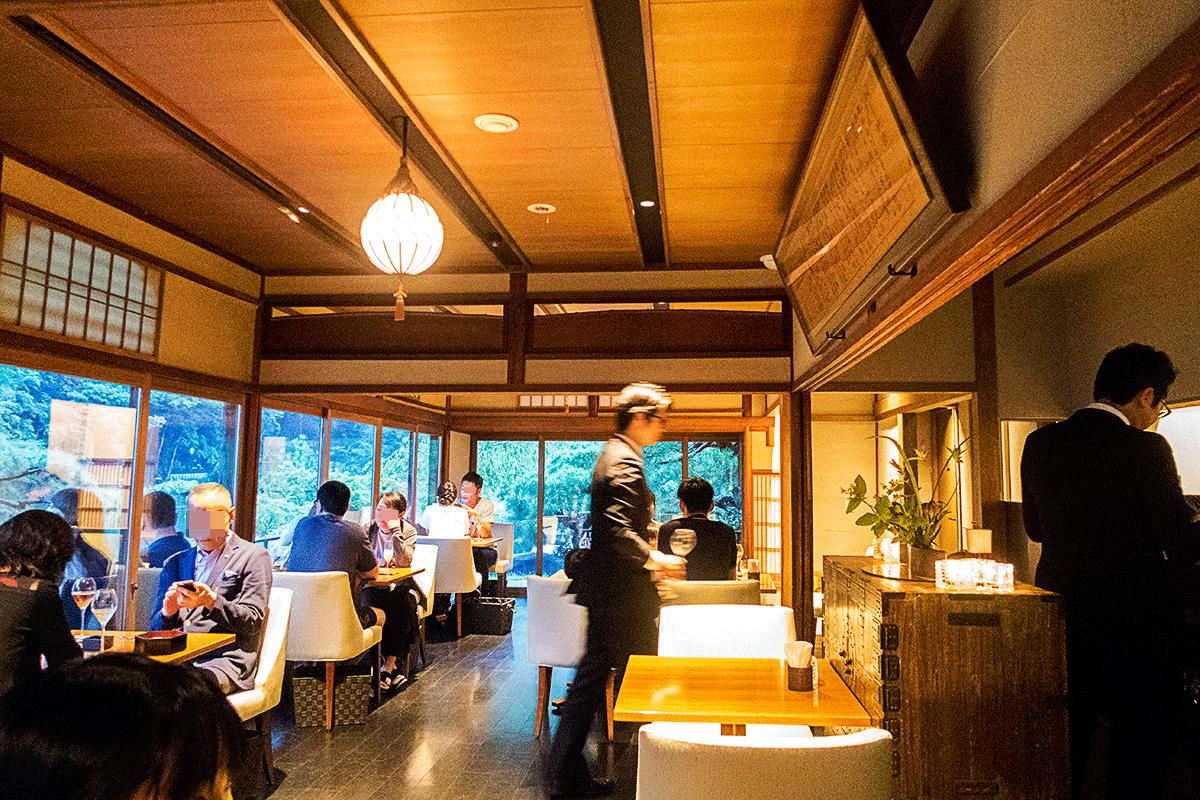 翠嵐ラグジュアリーコレクションホテル京都のシャンパンディライト
