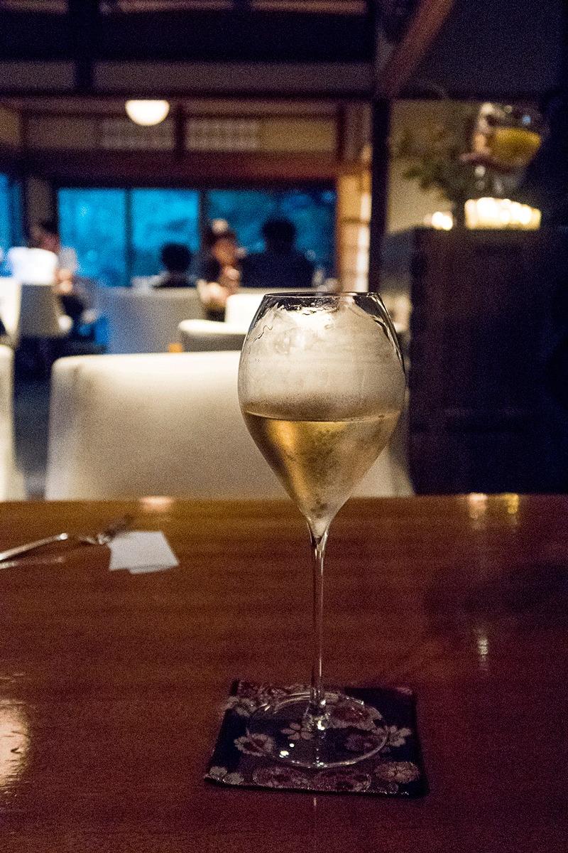 茶寮八翠でのシャンパンディライト