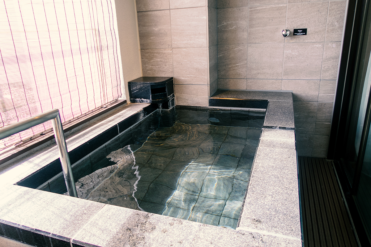 伊豆マリオットホテル修善寺の温泉露天風呂